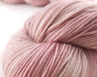hand dyed yarn, cashmere yarn, pink yarn, tonal yarn, luxury sock yarn, fingering, superwash merino, wool yarn, nylon, pink cashmere, MCN,