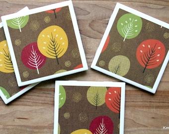 Fall Coasters - Coasters - Drink Coasters - Tile Coasters - Ceramic Coasters - Coaster Set - Housewarming Gift - Table Coasters - Coaster