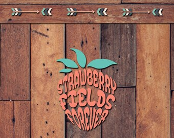 Strawberry Fields Forever Decal | Yeti Decal | Yeti Sticker | Tumbler Decal | Car Decal | Vinyl Decal
