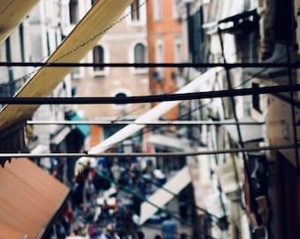 Italy Photography, Venetian architecture, Marketplace, Wall decor, Photography print