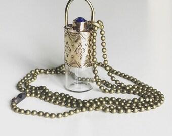 Roller Ball Necklace, Lakshmi Necklace, Essential Oil Necklace, Meditation necklace, Container Necklace, Keepsake Necklace