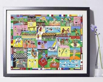 Olympics Art - Home Decor - Olympics Gift - Pat Singer's New York