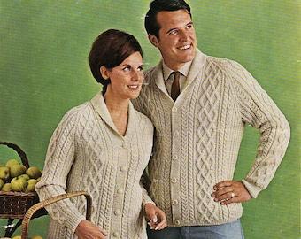 Womens dolman sleeve cardigan knitting pattern pdf dk ladies dolman womens mens aran jackets knitting pattern pdf ladies aran cardigan shawl collar roll neck 34 44 dk light worsted 8ply pdf instant download dt1010fo