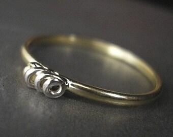 Stackable 14K Gold Spiral Ring