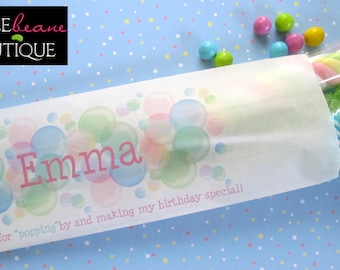 Bubble Candy Bags,bubble Birthday party blowing blubbles,bubble Favor bags,bubble favors,Birthday party, Sweets, Treat bags