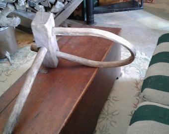 Antique Primitive Yoke for Oxen! Very Rare Single Lead.