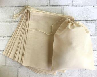 8 X 10 Muslin Bag 25 Bulk Drawstring Blank Cotton Favor Bags Wedding Bridal Shower Baby Shower Jewelry Soap DIY Craft Supplies Thank You