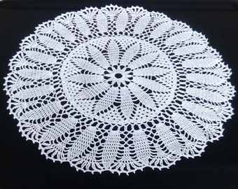READY TO SHIP New white crochet doily 20 inches-crochet tablecloth