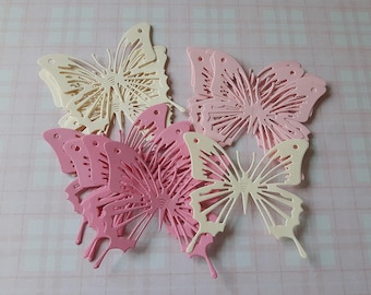 18x paper butterfly die cuts, scrapbooking, party decorations, table decorations, wedding, baby shower, princess birthday party