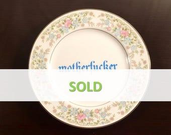 Motherf*cker Floral Plate