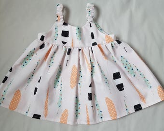 Vivian infant summer dress and matching diaper cover