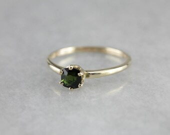 Green Tourmaline Solitaire, Tourmaline Engagement, Green Stone Ring, Birthstone Ring F8M584EA-P