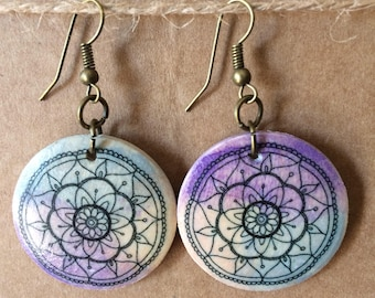 Mandala earrings 2