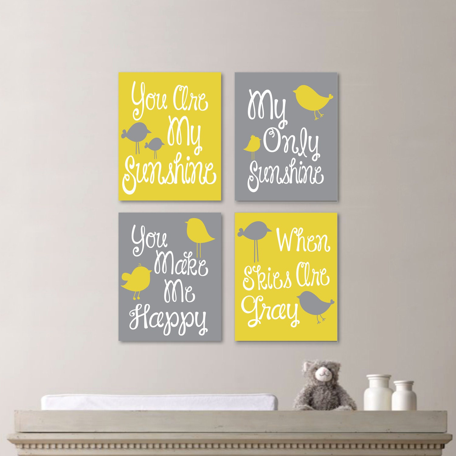 Baby Girl Nursery Art Print - You Are My Sunshine Nursery - You Are ...