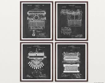 Typewriter Patent Poster - Typewriter Art - Typewriter Poster - Literary Art - Writer - Novel - Book - Book Art - Vintage Typewriter - Words