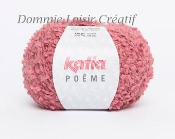 Wool Katia POÈME collar 54 Rose - needles 4.5/5
