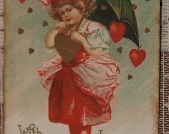 Valentine Gift Tags - With Fondest Love To My Valentine