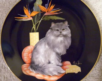 """1985 Aldo Fazio """"Phoebe"""" Limited Edition Collector Plate from The Sophisticated Ladies Collection"""