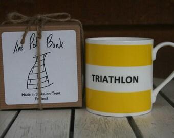 Triathlon Fine Bone China Mug