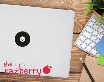 Not Bothered Face Emoticon Macbook Decal Emoticon Macbook Decal Macbook Decal Whatsapp Macbook Decal iPhone Macbook Decal Vinyl Emoticon