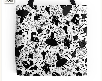 Tote Bag - Alice in Wonderland - Small 33x33 cm - Special Price