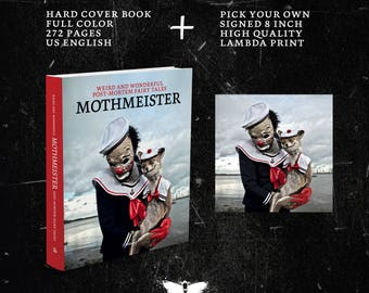 Mothmeister - hard cover book + pick your own signed 8 inch high quality lambdaprint