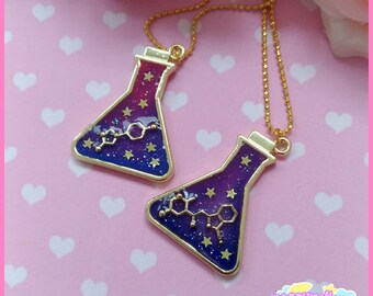 Chemical flask necklace cute and cosmic