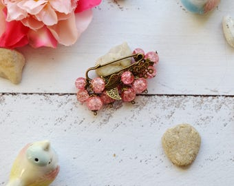pink brooch pin birthday gifts for mom beauty gift girlfriend gift inspirational womens gift pink jewelry gift pink wedding brooch