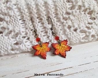 Maple Leaf Earrings, Autumn / Fall Jewellery