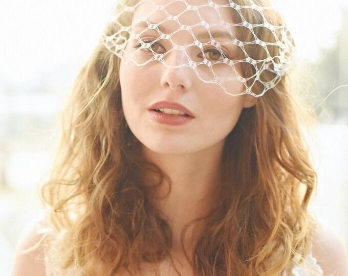 Bridal Birdcage Veil, Modern Vintage Veil, Birdcage Veil, Ivory Veil, White Veil, Black Veil, Bandeau Veil, Bird Cage Veil, Style 307