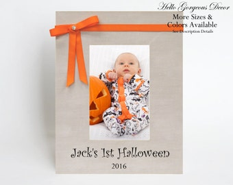 Baby Halloween Picture Frame First Halloween Personalized Gift Halloween Decor Newborn New Baby Infant Autumn Fall Decorations Baby Gifts