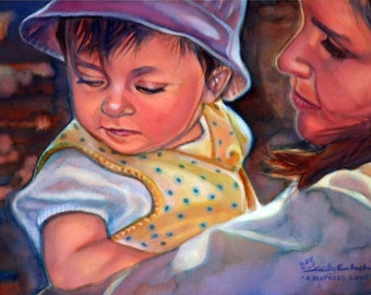 A Mother's Love - Watercolor