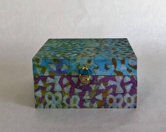 Authentic Ghanaian hand-made tea box