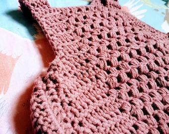 Beautiful newborn size crochet romper/ sunsuit. Super soft cotton & milk fibre. Summer outfit. Baby girl Christmas gift!