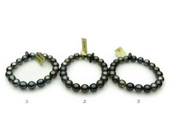 Tahitian Pearl Stretchy Bracelets Round/ Near Round 8mm to 9mm (136)