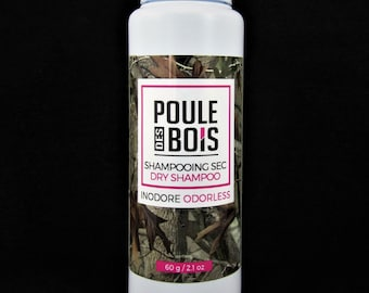 dry shampoo-Poule des Bois- Odorless-Hunting-Camping- Fishing