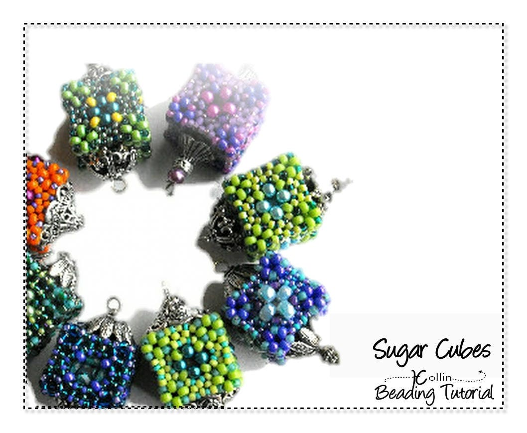 Beading Pattern Instructions Tutorials Small Hollow Cubic