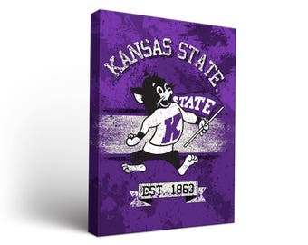 Kansas State K State Wildcats Canvas Wall Art Designs