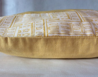 Rectangular Cushion cover 'buildings' curry