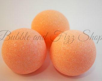 Grapefruit Bellini Bath Bomb / Fizzy. Handmade / handcrafted.