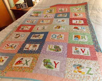 1930s ABC Child's Crib Quilt