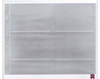 American Crafts - Top - Loading Page Protectors 12x12 10 Pack (6) 6inX4in Pockets