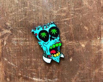 Original Drawing Psychedelic Melted Homer Bootleg Bart The Simpsons Lapel Pin Pinback Button Brooche
