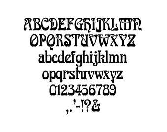 Art Nouveau Book folding Alphabet 4