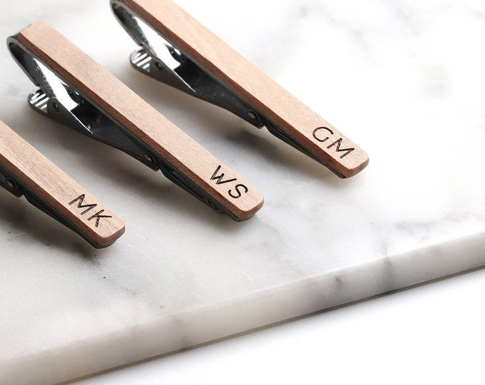 Personalized Groomsmen gift, Wooden Tie Clip, Personalized Tie Clips, Forest Inspired Wedding Gifts, Groomsmen Gift Ideas
