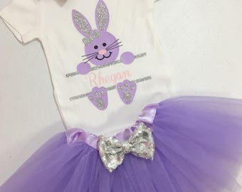 Girl Toddler Easter Outfit, Easter Tutu Set, Toddler Easter Tutu Set, Girl Easter Bunny Outfit