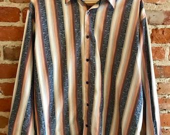 Havanera Men's Long Sleeve Oxford Buttondown,  Lounge Shirt, Dress Shirt, Christmas or Father's Day Gift