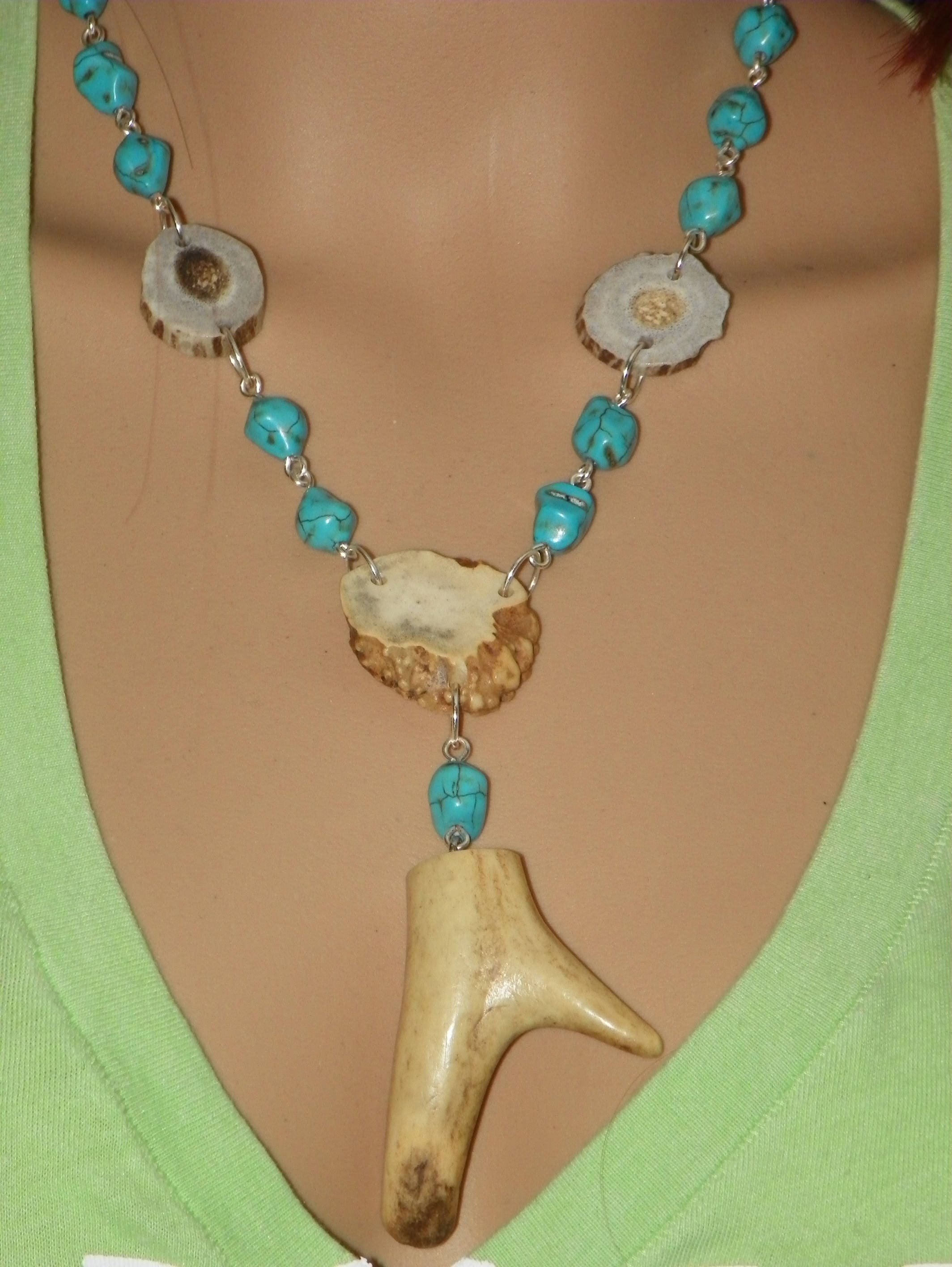 by designs tine horn necklace pin deer antler jewelry mindi