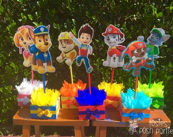 Paw Patrol Centerpieces for Birthday Candy Buffet or Favors