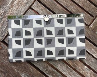 Gray Metal Frame Wallet, Metal Frame  Clutch, Wallet , Clutch , Bride Clutch, Bridesmaid Clutch